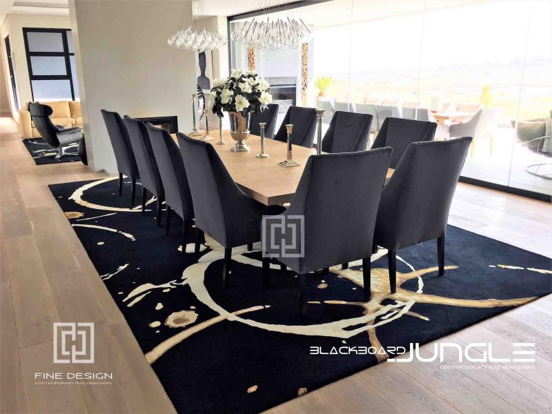 Black_and_cream_dining_room_rug