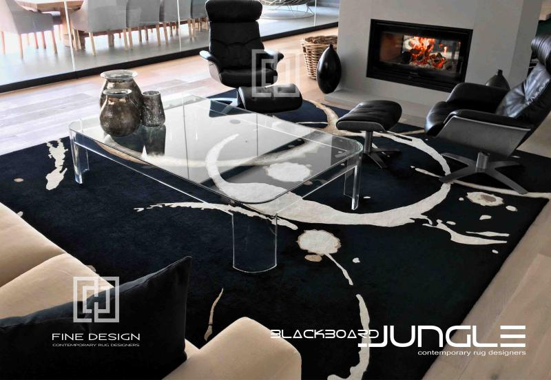 Black_and_cream_lounge_rug