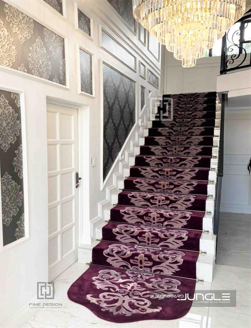 Burgandy_staircase_runner_with_rods