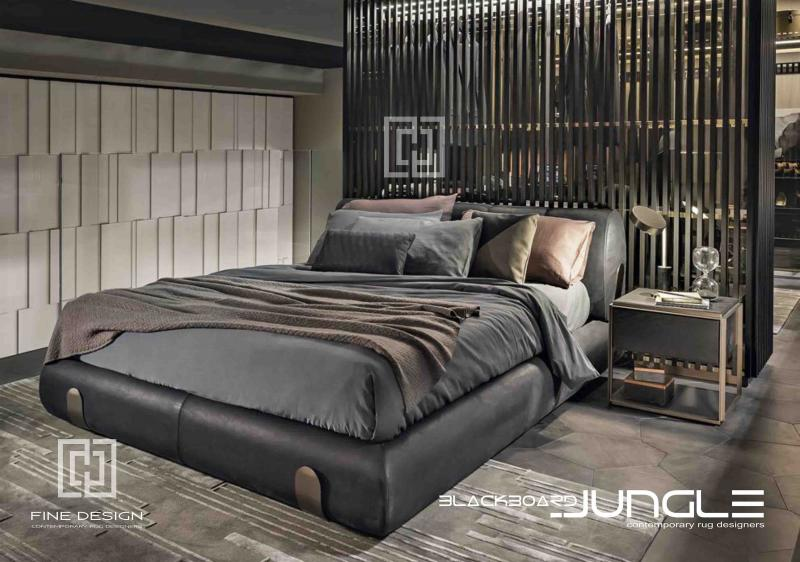 Contemporary_textured_bedroom_rug