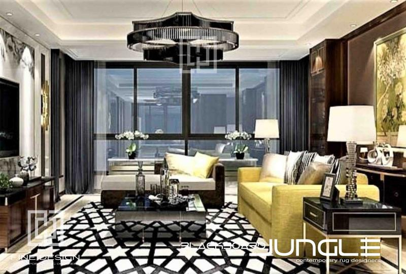Opulent_black_and_white_lounge_rug